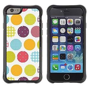 "Pulsar iFace Series Tpu silicona Carcasa Funda Case para Apple iPhone 6+ Plus(5.5 inches) , Dot blanca a cuadros Rayas Plaid"""