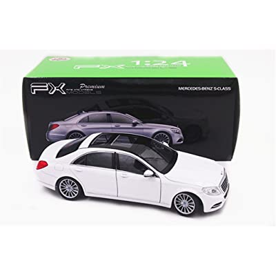 Welly 1:24 Mercedes Benz S-Class S600 Diecast Model Car White New in Box: Toys & Games