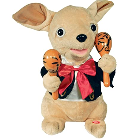 "Cuddle Barn Chuey Bamba 12"" Singing Chihuahua Animated Plush Toy, Shakes Maracas to """