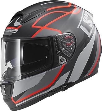 LS2 103972631S FF397 - Casco Vector Vantage, Color Negro Mate/Rojo, Tamaño S
