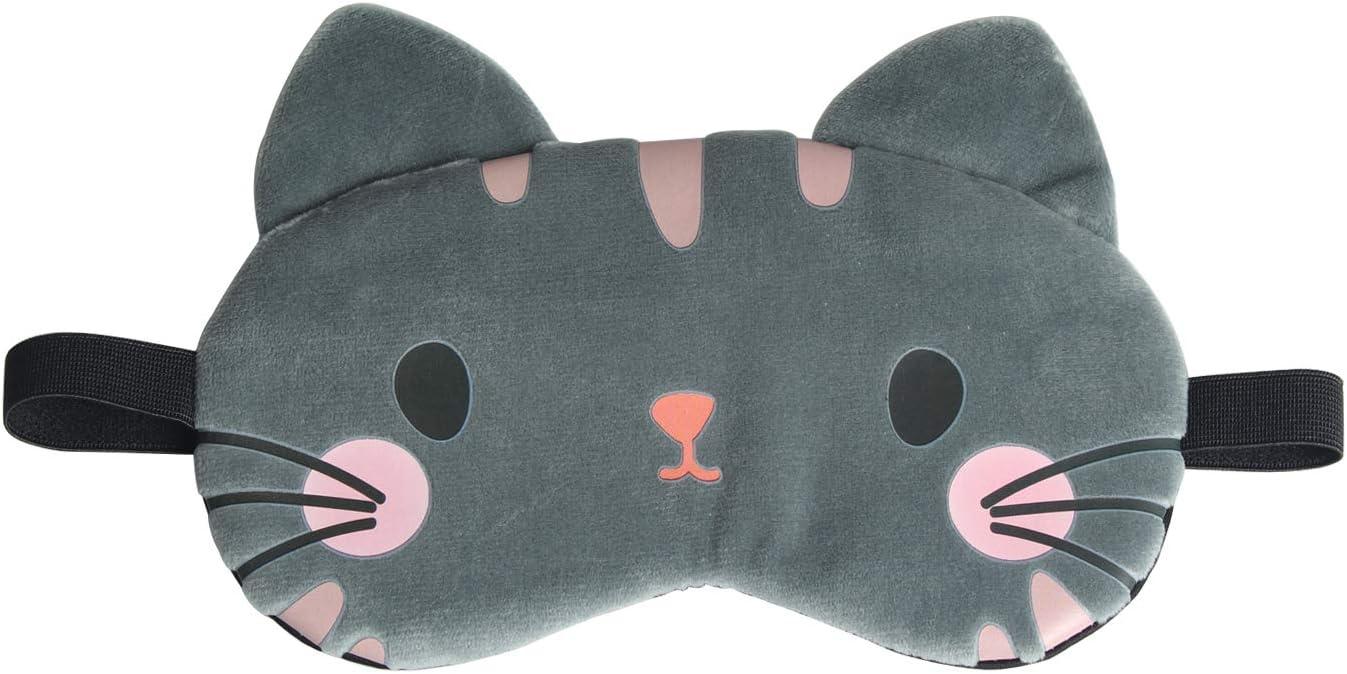 Gray Cloud eye sleep mask kids adults pj mask Cute kawaii sleep mask Travel mask party mask Plush soft eye pillow with pink bow