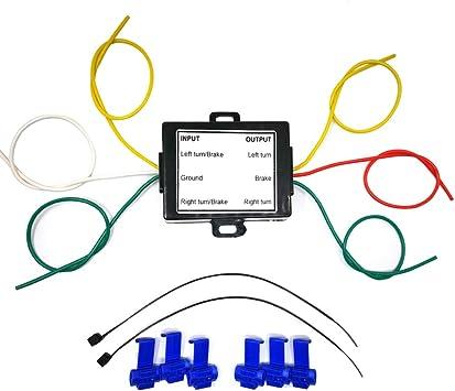 3 wire tail light wiring diagram amazon com carrofix 2 to 3 wire splice in trailer taillight  amazon com carrofix 2 to 3 wire splice