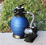 Outdoor Water Filter Sand Filters 12'' Above Ground Swimming Pool Soft Side With Water Pump 2400GPH - Skroutz