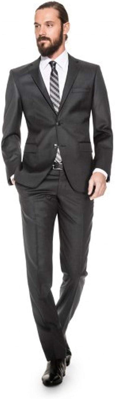 Benvenuto Black Herren Baukasten Hose Gemustert aus Super 100S Schurwolle 20711, Modell: 62400 Nero Modern Fit