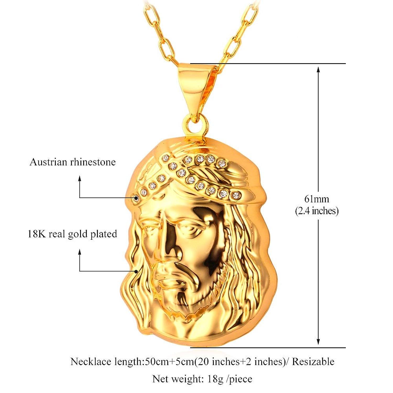 Amazon 18K Gold Plated Chain Jesus Pendant Necklace U7