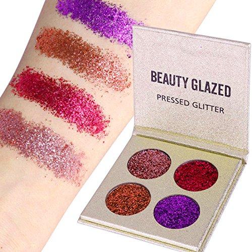 Beauty Glazed Eyeshadow Palette Insanely Pigments 4 Glitter