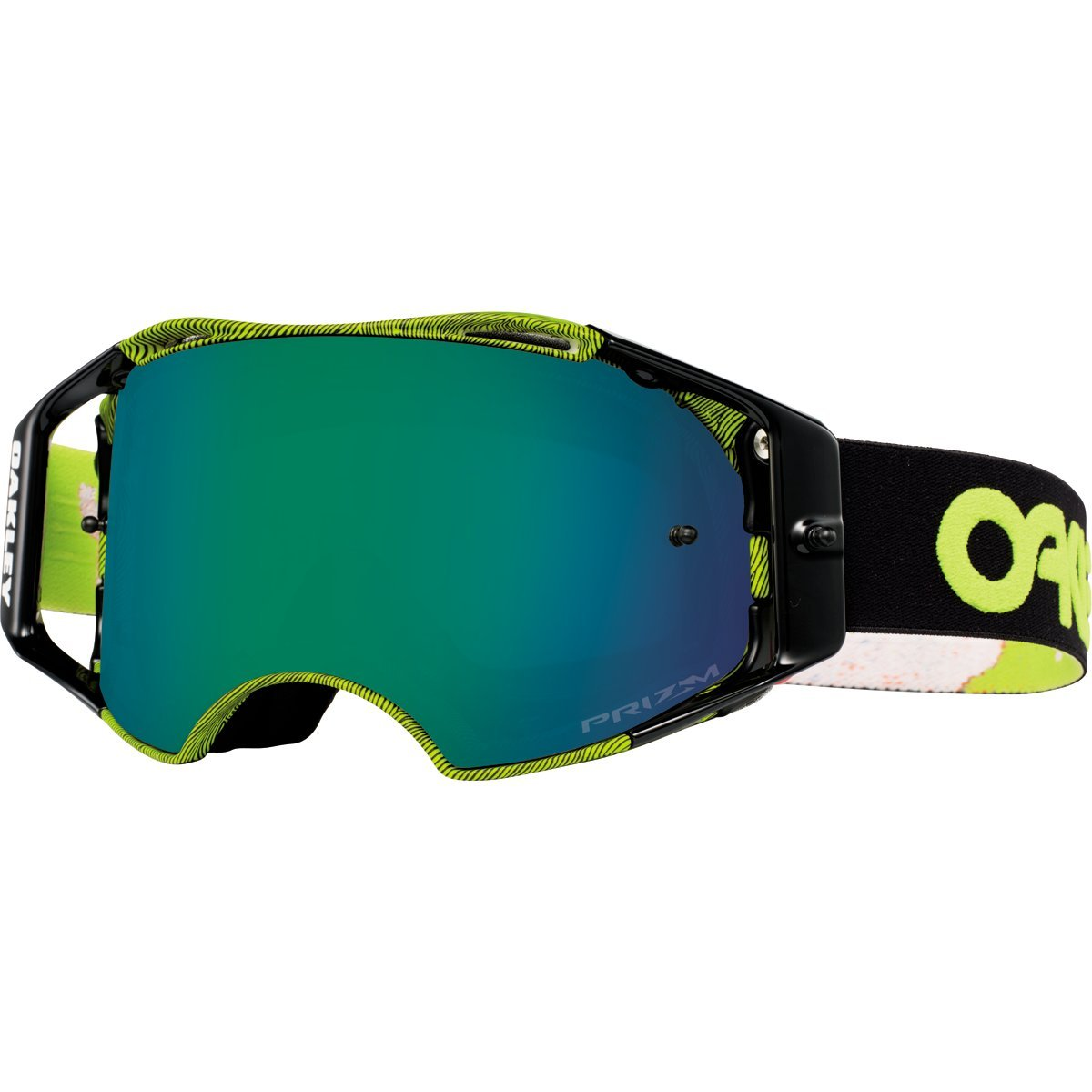 Oakley Airbrake MX Factory Pilot Collection Adult Off-Road Motorcycle Goggles Eyewear - Thumbprint Green/Prizm MX Jade/One Size Fits All by Oakley (Image #1)