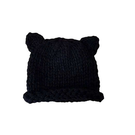 Amazon.com  FUNOC Hand Knitted Baby Hat Boy Girl Crochet Knit Winter Cat  Deer Ear Caps Hats  Clothing d760503f4a9