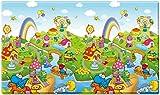 Dwinguler Non toxic Double sided playmat / Baby Toddler Kids Children Soft Play Mat / Safe Crawling Mat - Dinoland (Large)