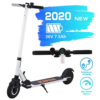 YunTech S2 Patinete Scooter eléctrico Plegable, Motor de 250 vatios, Pantalla LCD, 10AH, 25km/h, Pantalla LCD, Impermeable IP55, Scooter para Adultos ...