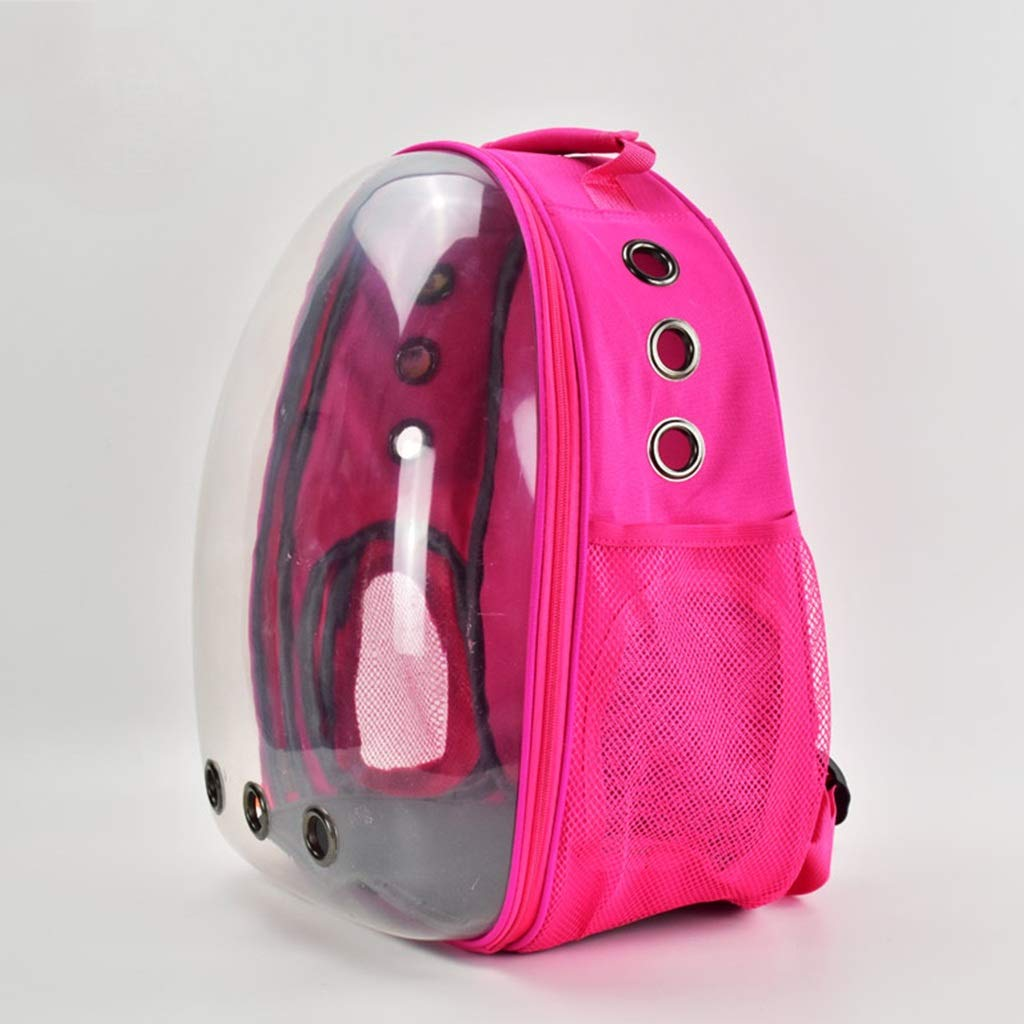 Pink Pet Carrier,Cat Dog Puppy Travel Hiking Camping Pet Carrier Backpack, Space Capsule Bubble Design,Waterproof Soft-Sided Handbag Backpack for Cat and Small Dogs (color   Pink)