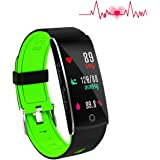 Huangchao Inc Fitness Tracker, Smart Watch 4 sports Mode, Heart Rate Monitor IP68 Waterproof Activity Tracker, Sleep & Blood Pressure Monitor, Calorie/Step Counter Smart Wristband for IOS Android
