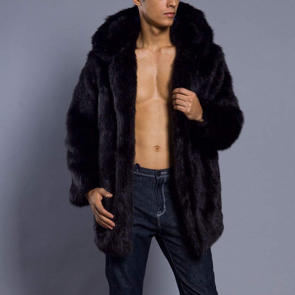 Amazon.com: HYIRI Big Parka Outwear Cardigan ,Mens Leopard Warm Thick Coat Jacket: Clothing
