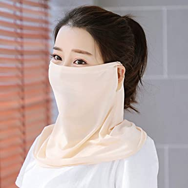 1//3 Pcs Breathable Women Neck Protection Face Cover Sun Protective Shade Anti-UV