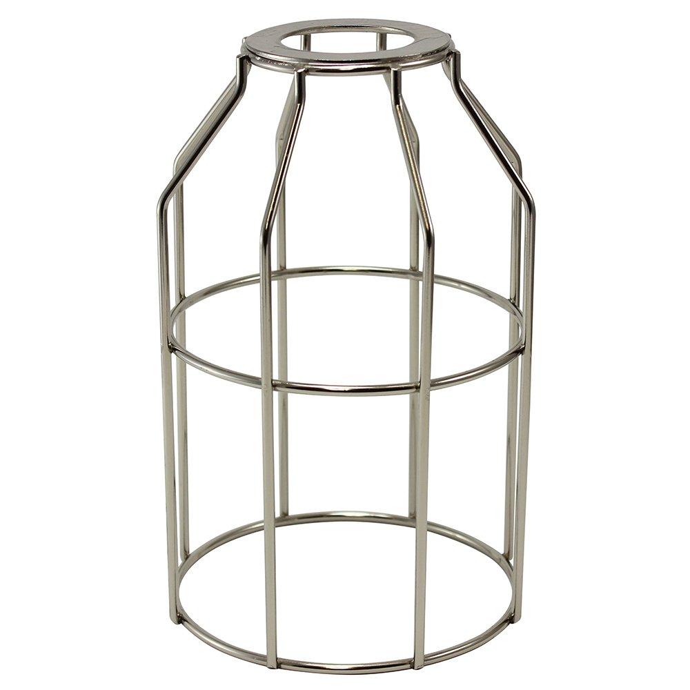 iLightingSupply 37-0109-22 Cage Premium Washer Mount Bulb Cage with Large Washer - Open Style - Polished Nickel