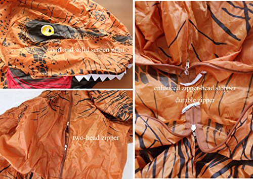 GOPRIME T-rex Halloween Party Fancy Dress, Dinosaur Costume, Adult Size (Brown) by GOPRIME (Image #3)