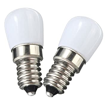 NewCY Pack de 2 E14 Bombilla LED 1.5W nevera Bombillas LED brillantes, reemplazo para lámpara ...