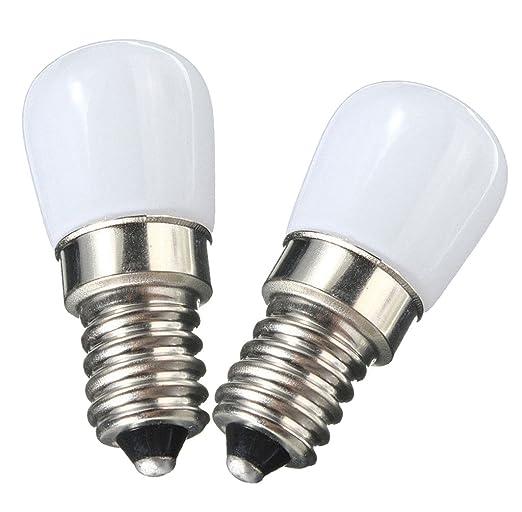 NewCY Pack de 2 E14 Bombilla LED 1.5W nevera Bombillas LED ...