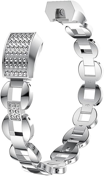 Cinturino per cinturino in acciaio inossidabile di ricambio per Fitbit Alta HR