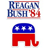 WOMEN/'S EQUALITY RONALD REAGAN GEORGE HW BUSH 1984 FOR PRESIDENT BUMPER STICKER