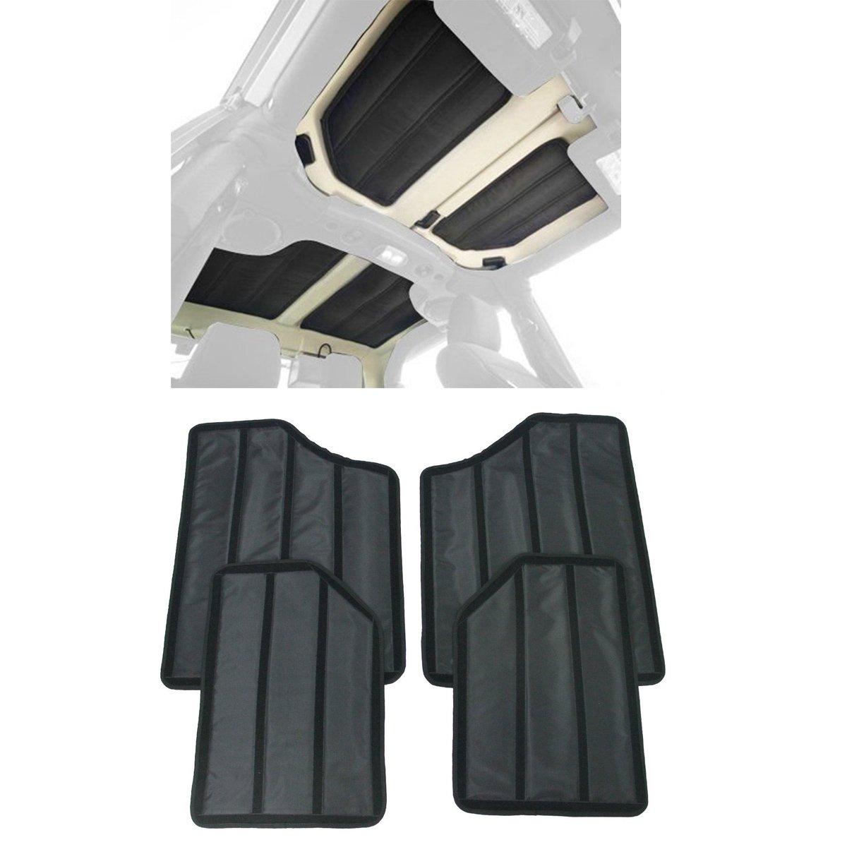 MOEBULB Hardtop Sound Deadener Insulation Black for Jeep Wrangler 2 door 2012 2013 2014 2015 2016 2017 (2-Door)