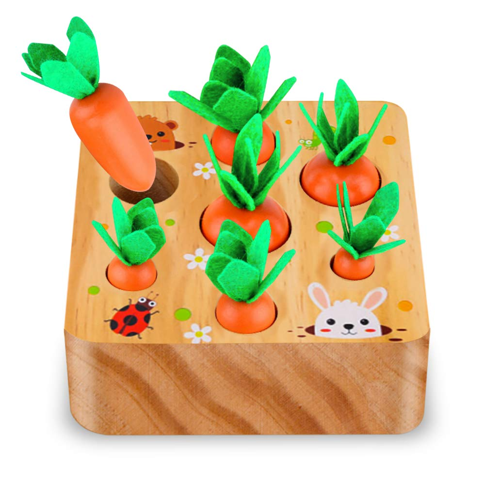 SKYFIELD Carrot Harvest Game Wooden Toy for Boys and Girls 1 2