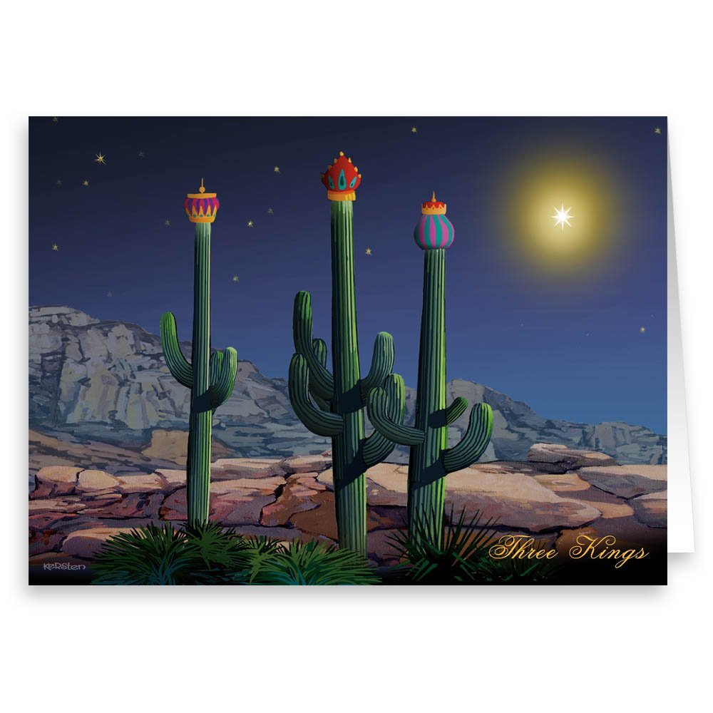 Amazon.com: Desert Cactus Decorating Christmas Card 12 cards/ 13 ...