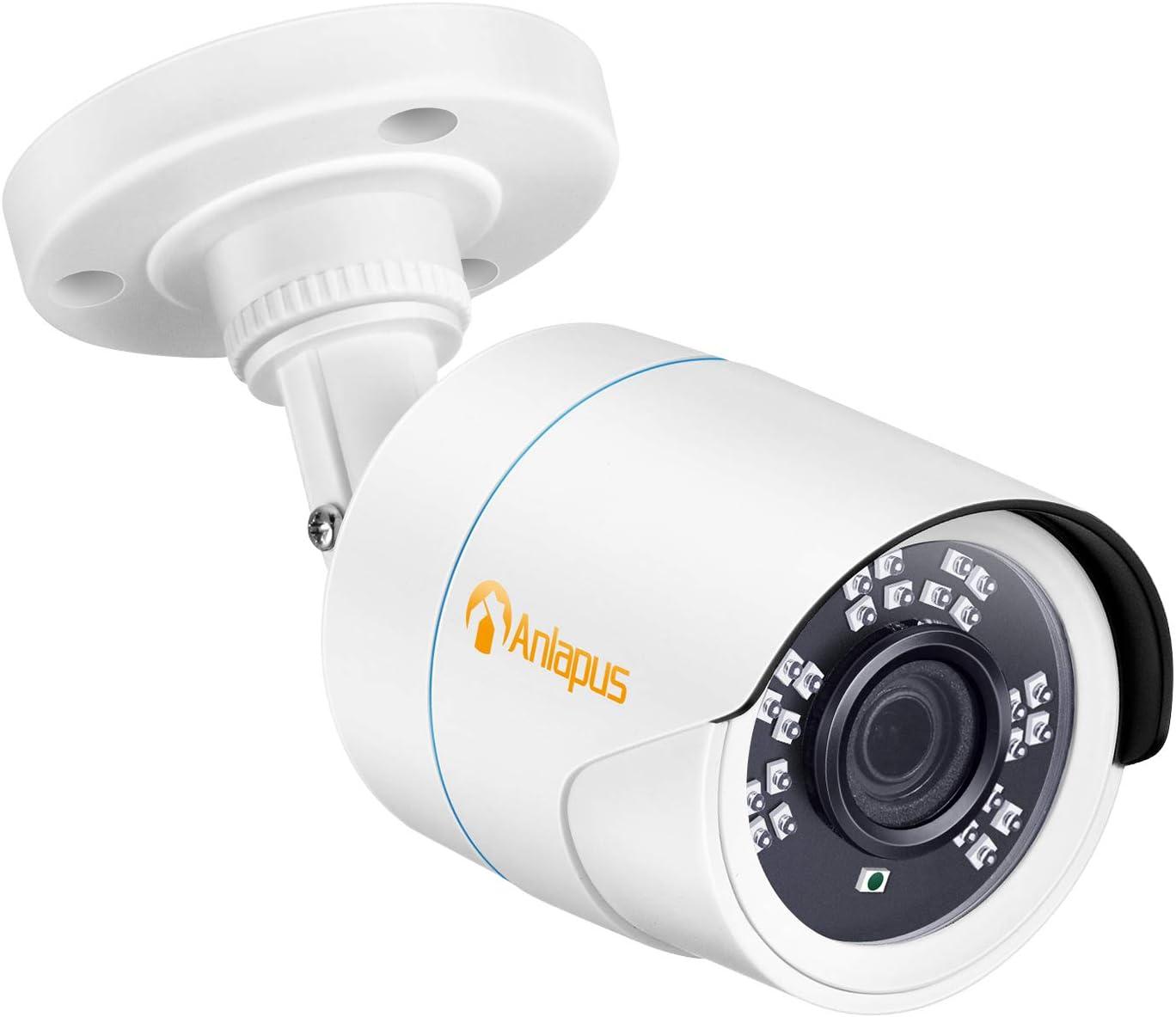 Anlapus 1080P HD 2MP 4-in-1 CVI/TVI/AHD/960H Analog CVBS Hybrid Bullet Security Camera 24 IR LEDs Day Night Indoor Outdoor CCTV Camera for Home Surveillance DVR System