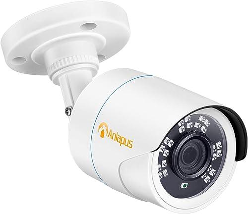 Anlapus 1080P HD 2MP 4-in-1 CVI TVI AHD 960H Analog CVBS Hybrid Bullet Security Camera 24 IR LEDs Day Night Indoor Outdoor CCTV Camera for Home Surveillance DVR System