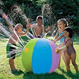 ZJZK Summer Swimming Party Beach Pool Play Beach Ball Sprinkler 29.5-inch (75cm) Sprinkler Water Ball PVC Inflatable Beach Splash Spray Balloon Outdoor Backyard Water Play
