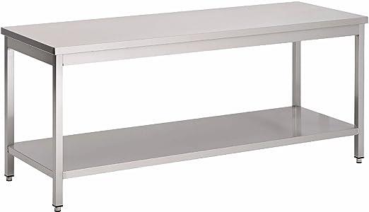 Saro mesa soldada (acero inoxidable, 1600 x 700 x 850 mm ...