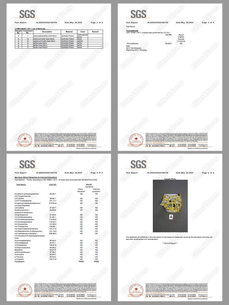 Pa/ñales reutilizables microfibra Talla:pack de 20 Littles /& Bloomz