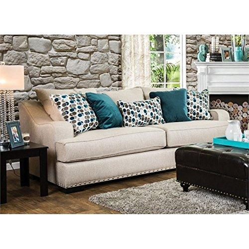 Furniture Of America Jordan Fabric Sofa In Beige Best Sofas Online Usa