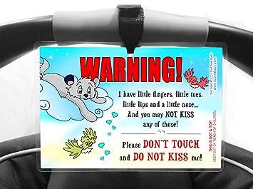 Amazon.com: Don 't touch o Kiss Me Señal para bebé, 6 x ...