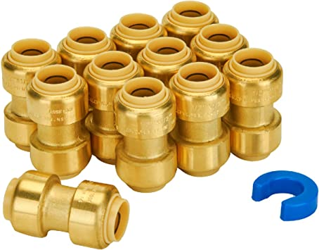 1//2 Lead Free Certified 1 pc PROCURU 1//2-Inch PushFit Combo Kit PEX 1//2 1//2 PushFit Couplings Lead Free Certified CPVC Pipe 10 pcs 0.5 Inch PLUS 1//2 Disconnect Clip 0.5 Inch | Plumbing Fitting for Copper