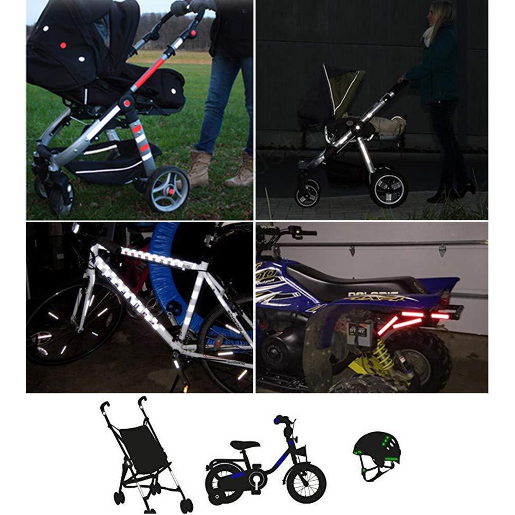 Passeggino Set di 3 autoadesivi e Altamente Riflettenti Catarifrangenti autoadesivi Kylewo Set di riflettori in 13 Parti Adesivi per Bambini