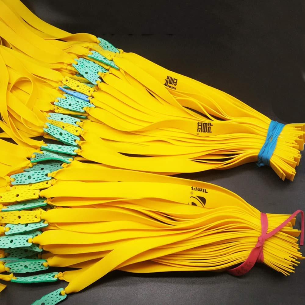 YAAVAAW Bandas de Goma tirachinas Planas,Cuerdas de Caza de Repuesto Tiras de Repuesto para catapultas de Caza de Goma,Bandas de Goma duraderas para tirachinas
