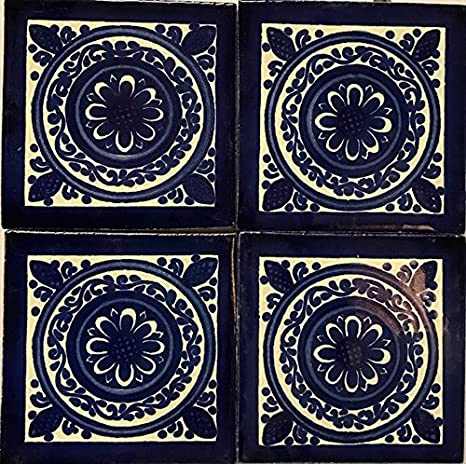 Amazon.com: 6 x 6 tamaño grande colorido de Talavera azulejo ...