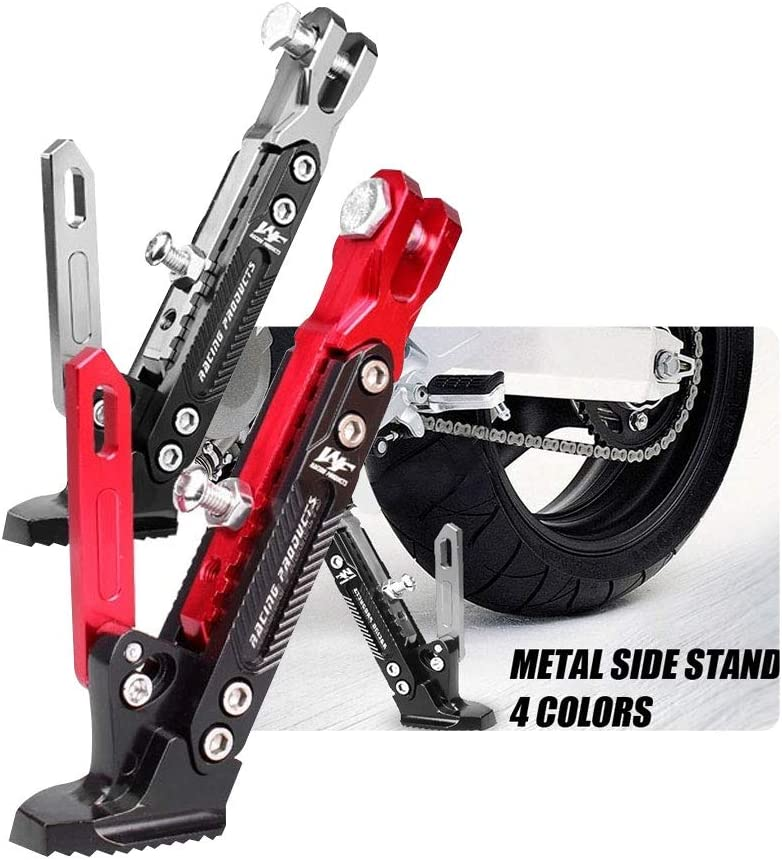 BOOMCOOL Motorcycle Support Side Frame Adjustable High Support Modified Scooter Side Stand for Motorcycle Kickstand