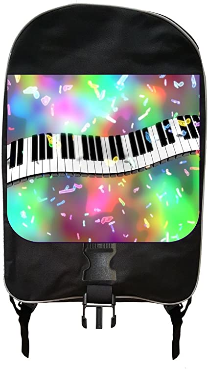 Colorful Musical Design School Backpack and Pencil Case Set
