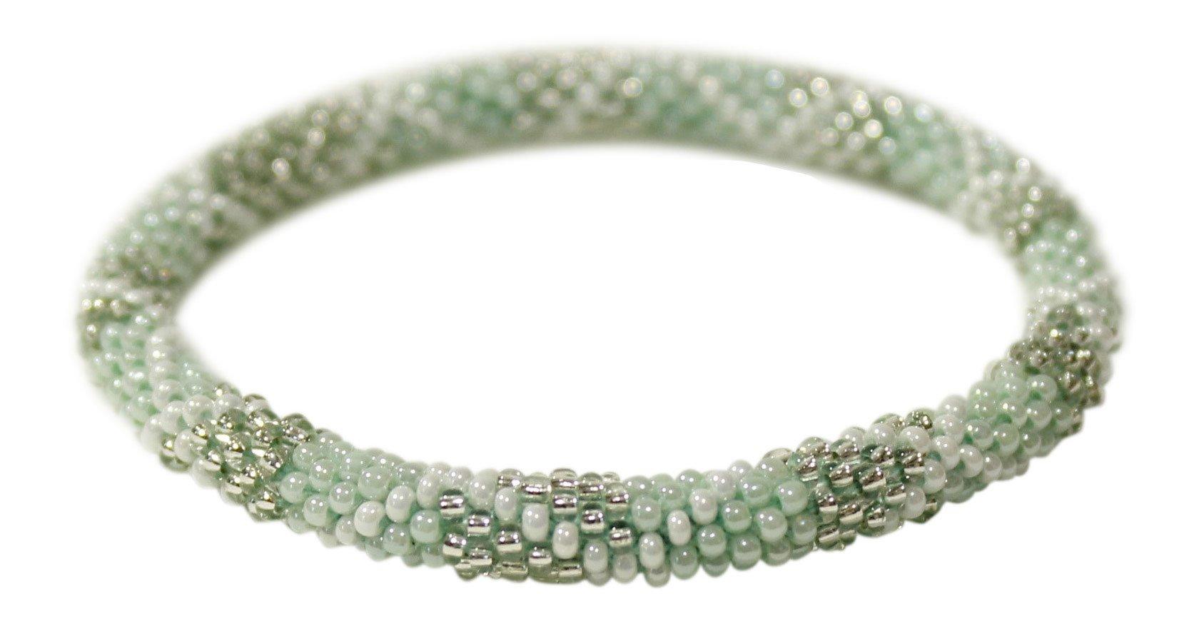 Aid Through Trade Beaded Roll-on Bracelet - Seafoam (Dk Seafoam)