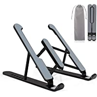 Laptop Stand, Adjustable MacBook Computer Stand 9-Angles & Height Ergonomic Aluminum Laptop Holder,Laptop Stand for…