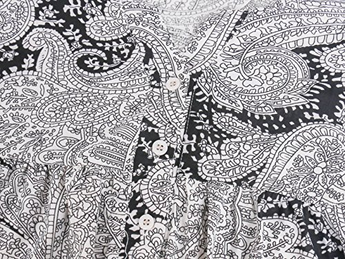 Floral Manches Courtes DSUK Shirt Noir08 plisse Tunique Tee Manches Bouton Longues HHEp0q