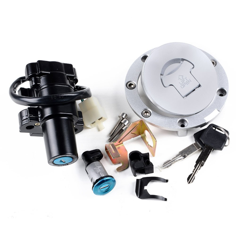 SET Ignition Switch Lock Key Fuel Gas Cap Compatible with Honda CBR 2004-2007 1000RR 2003-2006 600RR