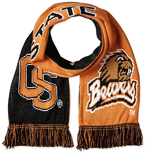 NCAA Oregon State Beavers 2-in-1 Scarf, One Size, Black ()