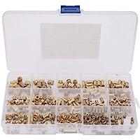 330 stuks inwendige schroefdraad kartelmoeren ronde inzetstukken ingebedde moeren bevestigingssets met kunststof doos