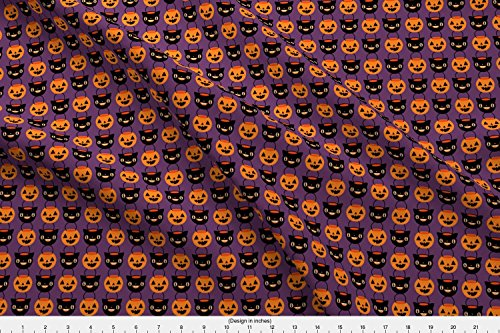 Spoonflower Hallowee Fabric Halloween Candy Buckets by Emandsprout