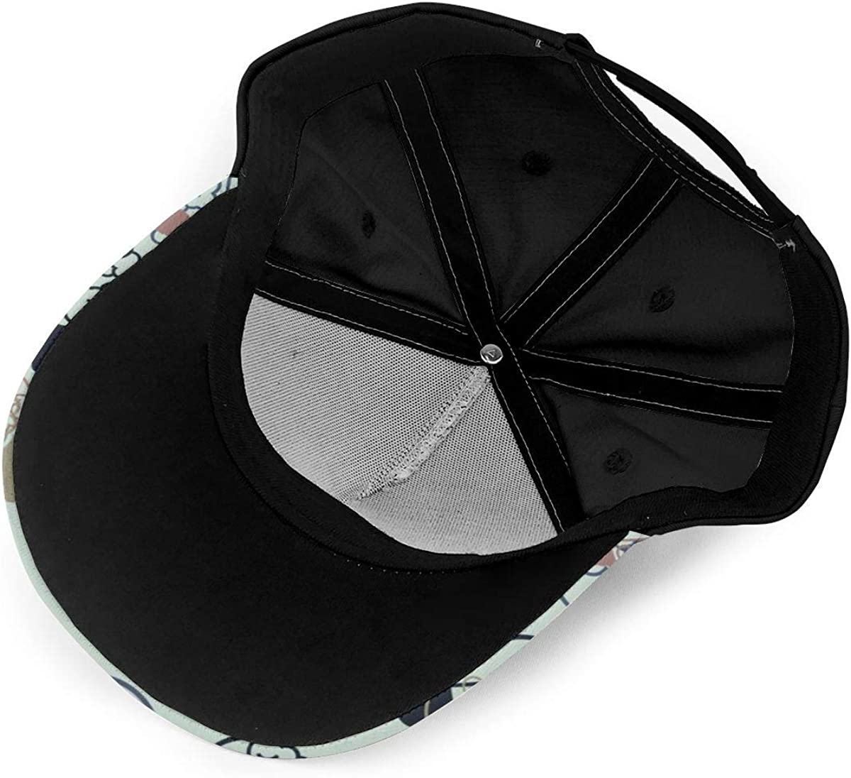 Light Bulb Style Brain Classic Baseball Cap Men Women Dad Hat Twill Adjustable Size Black