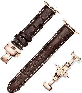 Handmade 42mm/44mm Iwatch Band for Apple Smart Watch Series 5 Series 3/Series 4 Strap Women Men - Top Grain Italian Leather