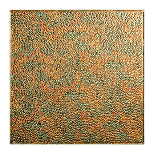 Fasade Easy Installation Border Fill Copper Fantasy Lay In Ceiling Tile / Ceiling Panel (2' x 2' Tile)